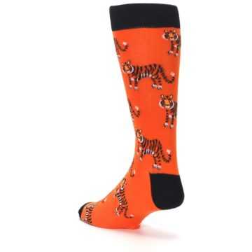 Image of Orange Tiger Men's Dress Socks (side-2-back-15)
