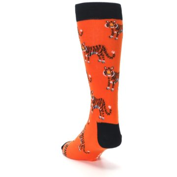 Image of Orange Tiger Men's Dress Socks (side-2-back-16)