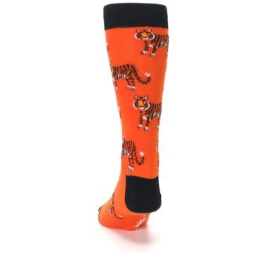 Image of Orange Tiger Men's Dress Socks (back-17)