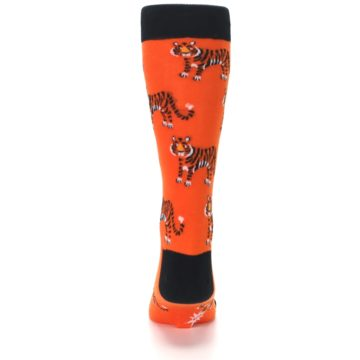 Image of Orange Tiger Men's Dress Socks (back-18)