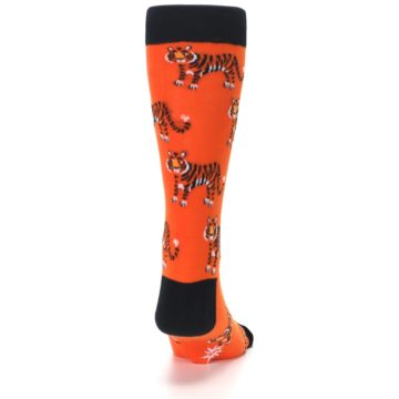 Image of Orange Tiger Men's Dress Socks (back-19)