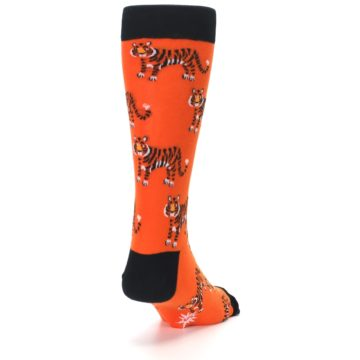 Image of Orange Tiger Men's Dress Socks (side-1-back-20)