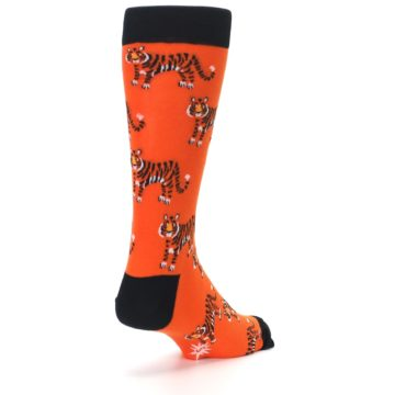 Image of Orange Tiger Men's Dress Socks (side-1-back-21)