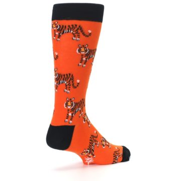 Image of Orange Tiger Men's Dress Socks (side-1-back-22)