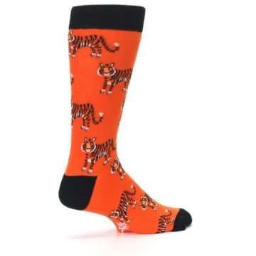 Image of Orange Tiger Men's Dress Socks (side-1-23)