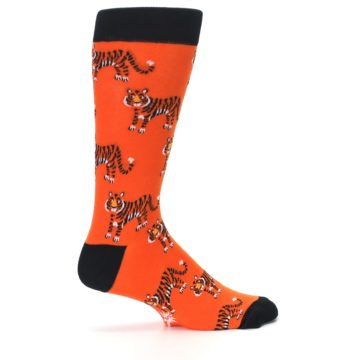 Image of Orange Tiger Men's Dress Socks (side-1-24)