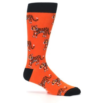 Image of Orange Tiger Men's Dress Socks (side-1-25)