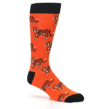 Image of Orange Tiger Men's Dress Socks (side-1-26)