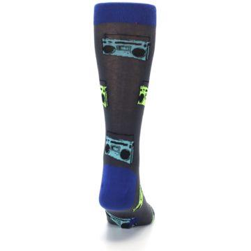 Image of Grey Boombox Radio Music Men's Dress Socks (back-19)