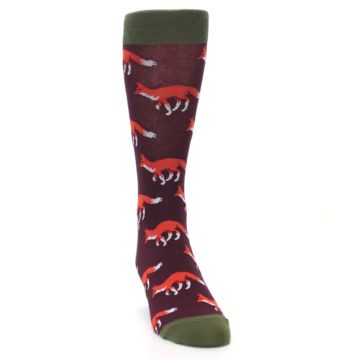 Image of Maroon Fox Men's Dress Socks (side-1-front-03)