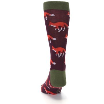 Image of Maroon Fox Men's Dress Socks (back-17)