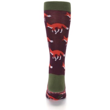 Image of Maroon Fox Men's Dress Socks (back-18)