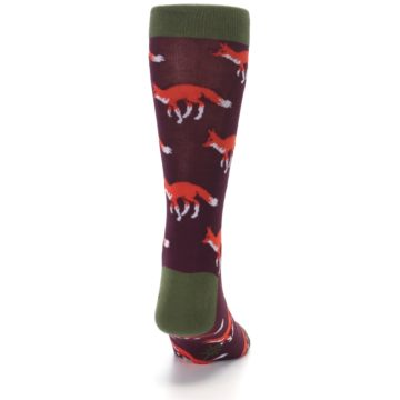 Image of Maroon Fox Men's Dress Socks (back-19)