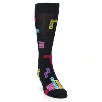 Image of Black Chemistry Elements Men's Dress Socks (side-1-front-03)