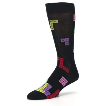 Image of Black Chemistry Elements Men's Dress Socks (side-2-09)