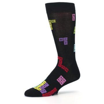 Image of Black Chemistry Elements Men's Dress Socks (side-2-10)