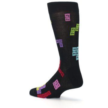 Image of Black Chemistry Elements Men's Dress Socks (side-2-back-14)