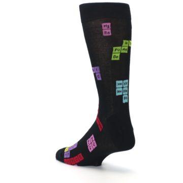 Image of Black Chemistry Elements Men's Dress Socks (side-2-back-15)