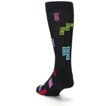 Image of Black Chemistry Elements Men's Dress Socks (side-2-back-16)