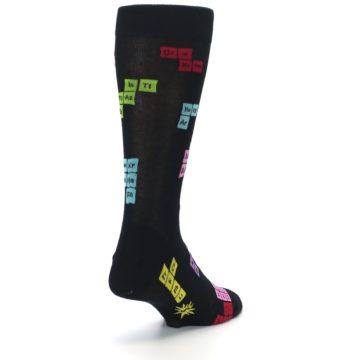 Image of Black Chemistry Elements Men's Dress Socks (side-1-back-21)