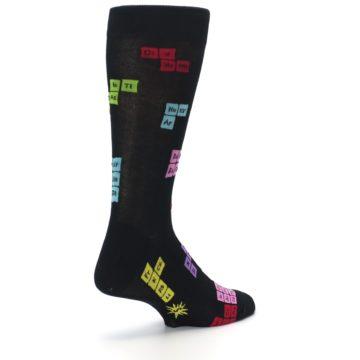 Image of Black Chemistry Elements Men's Dress Socks (side-1-back-22)