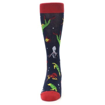 Image of Navy Scuba Diver Men's Dress Socks (front-05)