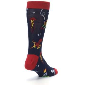 Image of Navy Scuba Diver Men's Dress Socks (side-1-back-21)