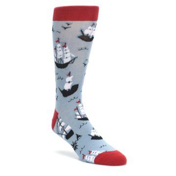 Sailing-Ship-Shape-Mens-Dress-Socks-Sock-it-to-me