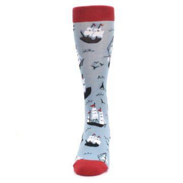 Image of Sailing Ship Shape Men's Dress Socks (front-05)