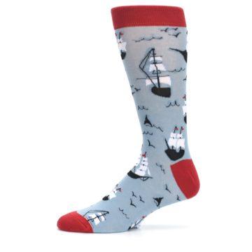 Image of Sailing Ship Shape Men's Dress Socks (side-2-11)