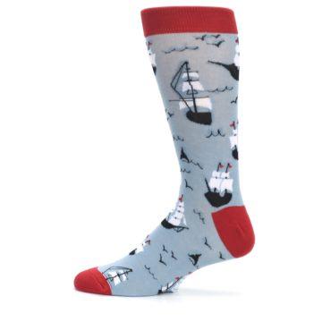 Image of Sailing Ship Shape Men's Dress Socks (side-2-12)