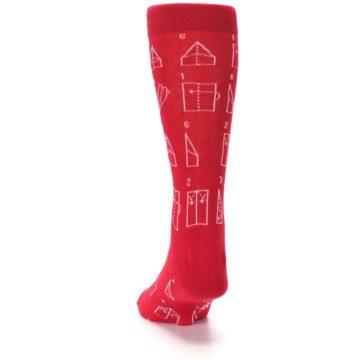 Image of Red Paper Airplane Instructions Men's Dress Socks (back-17)