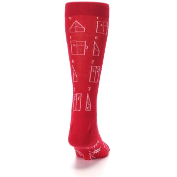 Image of Red Paper Airplane Instructions Men's Dress Socks (back-19)