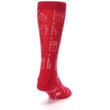 Image of Red Paper Airplane Instructions Men's Dress Socks (side-1-back-20)