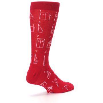 Image of Red Paper Airplane Instructions Men's Dress Socks (side-1-back-22)