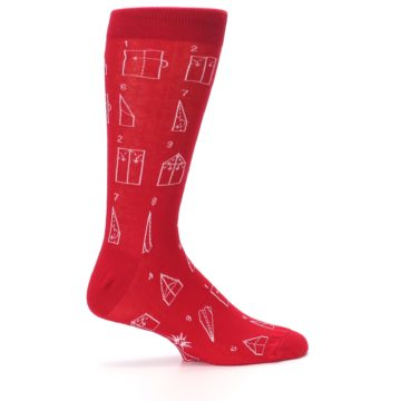 Image of Red Paper Airplane Instructions Men's Dress Socks (side-1-24)