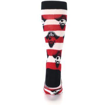 Image of Red Pirate Argh Stripey Men's Dress Socks (back-18)