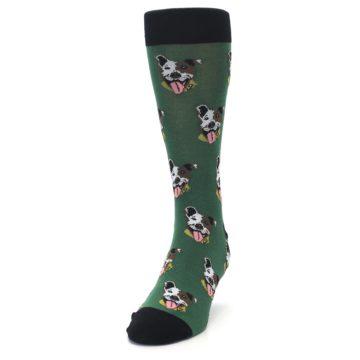Image of Go Fetch Dog Men's Dress Socks (side-2-front-06)