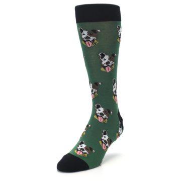 Image of Go Fetch Dog Men's Dress Socks (side-2-front-07)
