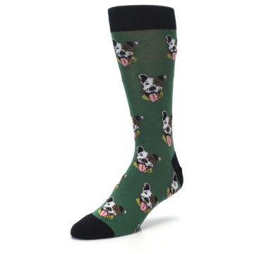 Image of Go Fetch Dog Men's Dress Socks (side-2-front-08)