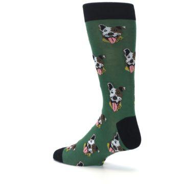Image of Go Fetch Dog Men's Dress Socks (side-2-back-14)