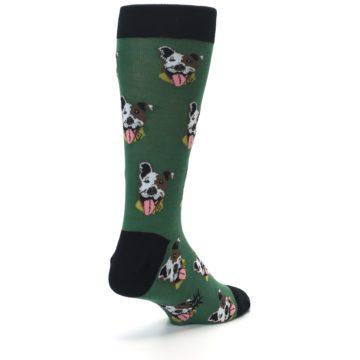 Image of Go Fetch Dog Men's Dress Socks (side-1-back-21)