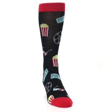 Image of Movie Theater Reel & Popcorn Men's Dress Socks (side-1-front-03)