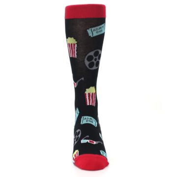 Image of Movie Theater Reel & Popcorn Men's Dress Socks (front-04)