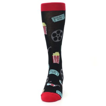 Image of Movie Theater Reel & Popcorn Men's Dress Socks (front-05)