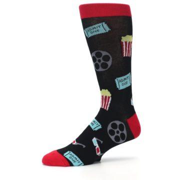 Image of Movie Theater Reel & Popcorn Men's Dress Socks (side-2-10)