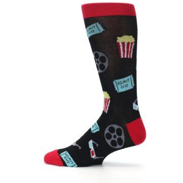 Image of Movie Theater Reel & Popcorn Men's Dress Socks (side-2-12)