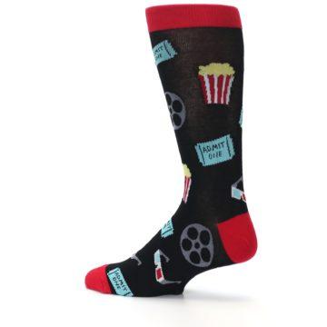 Image of Movie Theater Reel & Popcorn Men's Dress Socks (side-2-13)