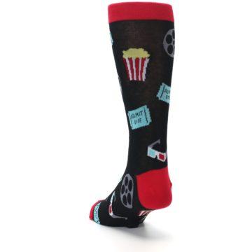 Image of Movie Theater Reel & Popcorn Men's Dress Socks (side-2-back-16)