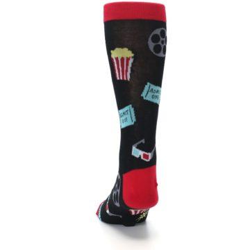 Image of Movie Theater Reel & Popcorn Men's Dress Socks (back-17)